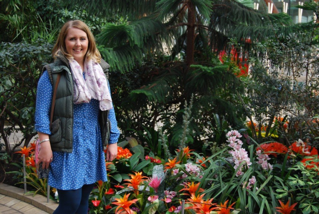Holly decided to have her photograph taken in the Sheffield Winter Garden as the place holds happy memories of times she spent with her Nan there.