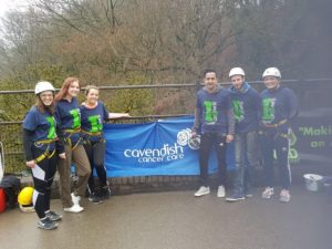 Brave Cavendish supporters take on 100ft abseil!