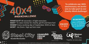Steel City Marketing celebrate their 40th Anniversary with #40x4Challenge